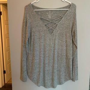 soft & sexy plush long sleeve shirt